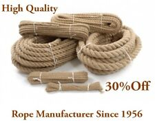 8 Meters Natural Jute Rope 32mm Twisted Decking Cord Garden Boating Sash Campin