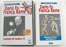 DARIO FO e FRANCA RAME Lezioni di teatro II (1984) DVD + LIBRO