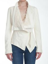 Giorgio Brato cream leather jacket sz40/US 4, w/beautiful italian lace lining