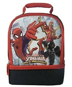 Thermos Marvel Spider-Man Web-Warriors Dual Compartment Insulated Lunch Kit NEW