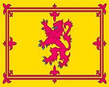 "10"" x 8"" ROYAL FLAG OF SCOTLAND SCOTTISH RAMPANT LION METAL PLAQUE TIN SIGN N077"