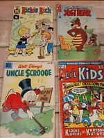 Lot Of 4 Vintage Comic Books Please See Photos For List                      D5