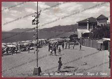 SAVONA BORGIO VEREZZI 11 STABILIMENTO BALNEARE Cartolina FOTOGRAFICA viagg. 1957