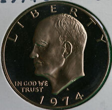 1974 S Eisenhower PROOF Clad Ike One Dollar $1 MADE IN USA