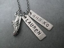 CROSS COUNTRY PERSONALIZED HIGH SCHOOL TEAM NECKLACE~18 inch~RUNNING JEWELRY