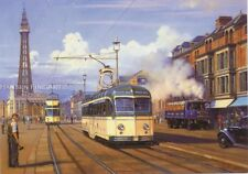 Blackpool Tram Nostalgic Blank Birthday Fathers Day Card