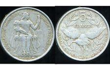 nouvelle caledonie 5  francs  1952  ANM   ( bis )