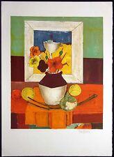 "Rene Couturier ""Still Life"" Hand Signed Artwork Lithograph France, Make Offer!"