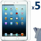 5Pcs Ultra Clear Screen Protector Guard Cover for Apple iPad Mini 16GB 32GB 64GB