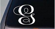 """LETTER G 6"""" monogram sticker decal truck car window teach craft initials *D778*"""