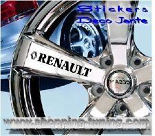 8 STICKER AUTOCOLLANT LOGO JANTE RENAULT MEGANE CLIO