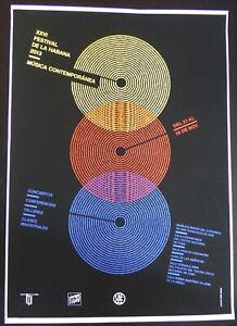 Rare CUBAN Screen-print Art Poster for HAVANA CUBA Contemporary Music Festival