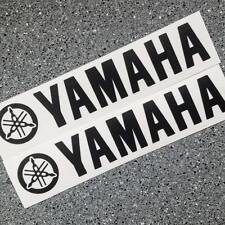 Yamaha BLACK 8.25in rim decals stickers r 6 1 zuma 3 moto gp racing ttr fz 8 yzf