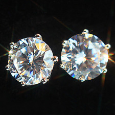 Women's Crystal Zircon Inlaid Stud Jewels Buy 3 Get 1 Earrings Silver Earrings