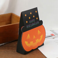 Foldable Halloween Easter Paper Pumpkin Candy Bags Party Baking Cookies Box np