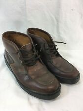 VTG BATES FLOATERS Mens 8 BROWN LEATHER MOC TOE CHUKKA Shoes BOOTS FELT LINED