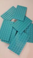 Lego medium azure plate 6x10(3033),4 parts