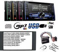 JVC kw-r520 Autorradio 2DIN CD MP3 AUX USB para FORD FOCUS C-MAX KUGA FIESTA