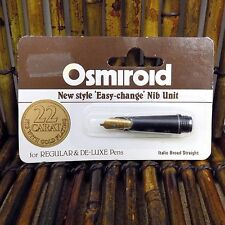 Osmiroid Nib Calligraphy Pen Tip England Easy Change Italic Broad Straight New