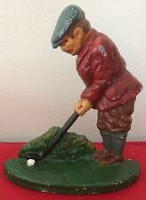 Vintage Cast Iron Golfer & Ball Door Stop