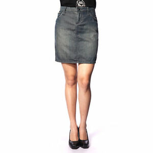 *NWT*Stitch's Women's Blue Distressed Wash Low-waist Denim Skirt Size 27