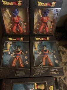(2) Super Saiyan Blue Kaioken x 10 Goku - Bandai Dragon Stars & (3) Mystic Gohan