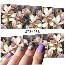 Art Pour Les Ongles Décalco À L'eau Emballages fleurs d'été Floral UV Embouts