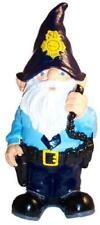 """Police Officer Cop Trooper Sheriff Thematic Garden Yard Gnome Office New 11"""""""