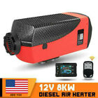 8KW 12V New Diesel Air Heater LCD Screen Fit Truck Boat Car Bus Trailer US