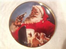 Coca-Cola Collector Plate Christmas Stocking Up for Santa Clause Limited Edition