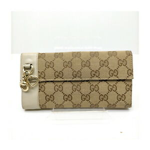 Gucci Wallet  Browns Canvas 410832