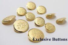 Gold Metal Blazer Buttons Set - Rampant Lion