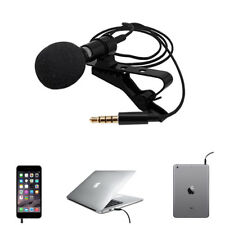 Portable 3.5mm Mini Microphone Hands Free with Clip On Lapel  Lavalier Wired Mic