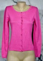 ICE NEW NWT Pink Silk Blend Cardigan Sweater Small Jewel Accents at Collar Cuffs