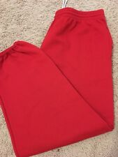 RED PAJAMAS RELAXED FIT MEN'S (2XL)waist 40-46 PLUS THICK WARM WINTER NIGHT WEAR
