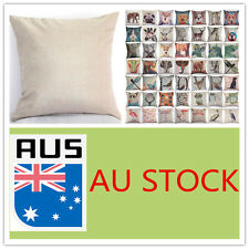 AU Vintage 50 Animal Print Linen Throw Cushion Cover Pillow Case Sofa Home Decor