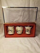 3 Nib Lenox Christmas Winter Greetings Votive Candle Holders Gift