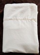 Ralph Lauren TWIN FLAT SHEET Ivory Cream Cotton Sateen EUC
