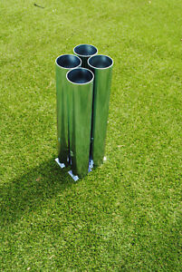 Football Goal Sockets - For 60mm Round Steel Goals - Set of 4 - Free P&P