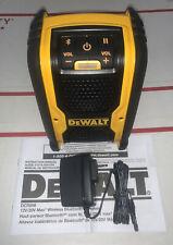 NEW Dewalt DCR006 Bluetooth Speaker 20V & 12V Cordless, AC Corded USB Aux 2020