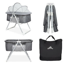 Baby Crib Bassinet Bedside Sleeper Adjustable Height Nursery Furniture