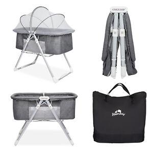 Baby Crib Bassinet Bedside Sleeper Adjustable Height Nursery Furniture