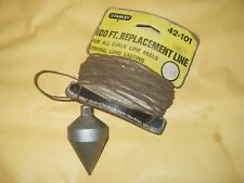 Vintage Plumb Bob On A Stanley Replacement Line - As Photo
