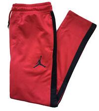 Nike Air Jordan Boys Sweatpants Athletic Pants Red Black 955708 Nwt Medium 10-12