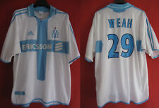 Maillot Olympique Marseille George Weah Ericsson OM Adidas vintage - XL