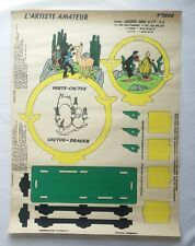 Affiche Poster Tintin L'artiste amateur N° 3008 Porte cactus / HERGE / BD RARE