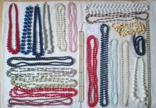 Necklaces Vintage Rope Bead Retro White blue black pink party bags Festival