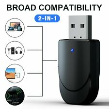 Bluetooth 5.0 Audio Transmitter Receiver USB Adapter For TV PC Car Speaker 2 In1