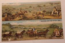 Diorama at State Museum Denver - Indian Travois & Trappers and Red Cart Postcard