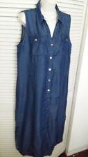 CHICO'S Chambray Shirt Dress Maxi Dress -NWT Size 2.5 (14)- Super Sale !